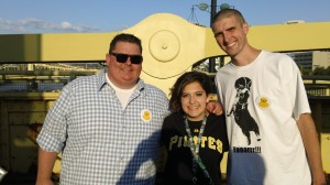 I am a whopping 5 foot three inches. I look like a leprechaun compared to these two.