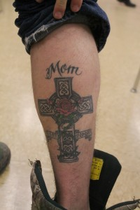 """""""The story behind my tattoo is dedicated to my mom because she died when I was young and she is my hero."""""""
