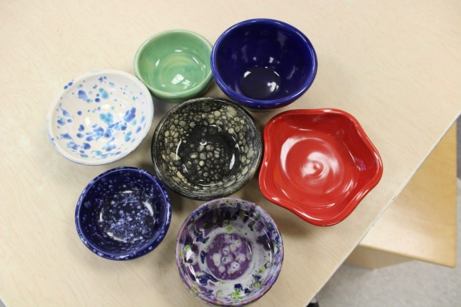 Students created bowls to send to the Westmoreland County Food Bank