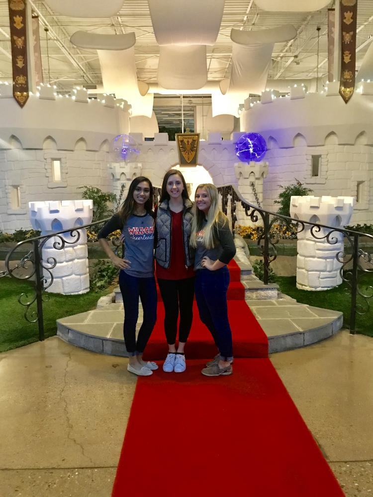 Senior editors Bianca Pate, Paige Lesko, and Raven Dupilka are posed in the heart of Inventionland. The marketing students along with Mr. Mains and Mrs. Butler attended Inventionland where they learned about the process of turning an idea into a product.