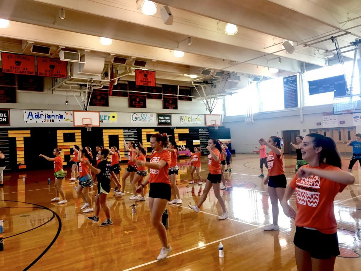 On September 23, 2017, the Greater Latrobe cheerleaders hosted a Zumba fundraiser.