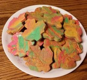 Fall Foliage Shortbread Cookies