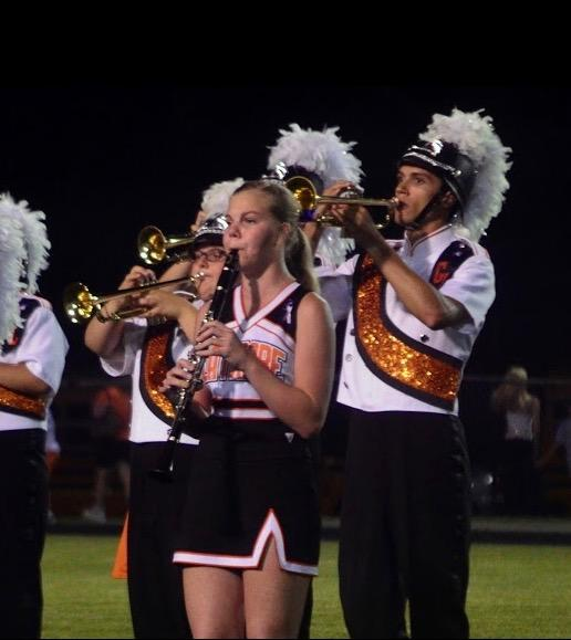 Emily Weaver Balances Marching Band and Cheerleading