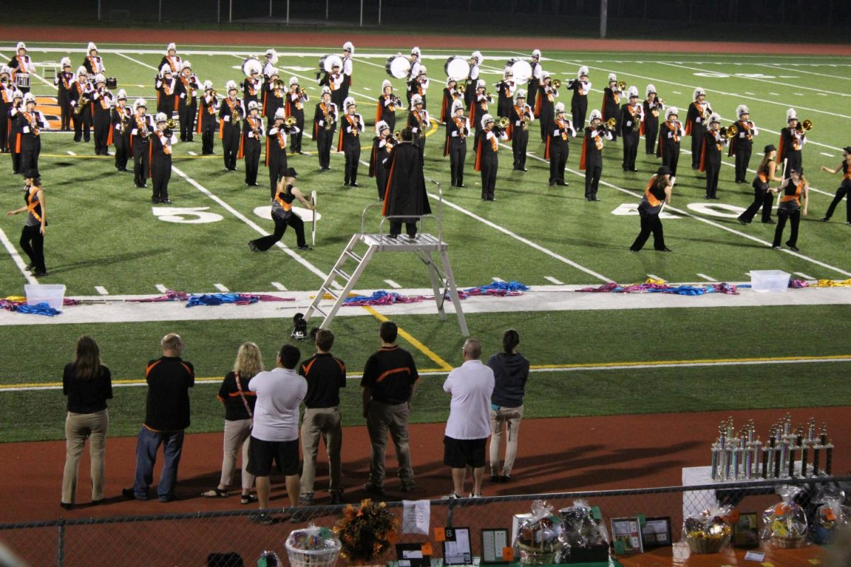 The Greater Latrobe Marching Band performed their halftime show at the Yough High School Band Festival on Saturday, September 23. Thirteen different bands performed alongside them that evening.