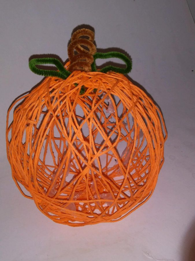 D.I.Y.+Yarn+Pumpkins