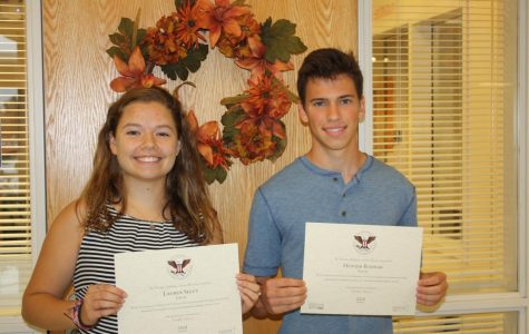 Press Release: Two students honored with the President's Volunteer Service Award