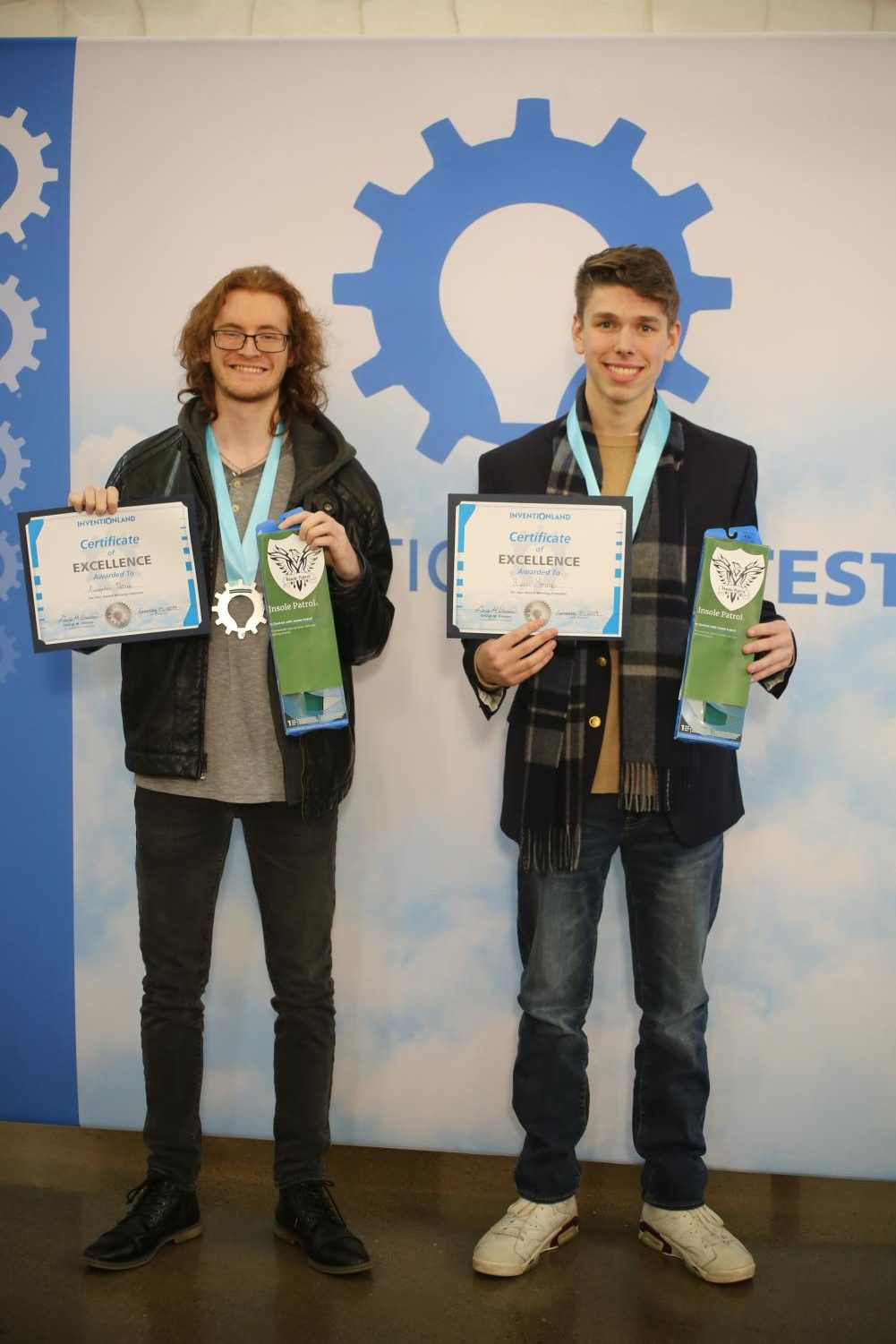 Alex Petrie (left) and Ryan Young (right) with their winning  product