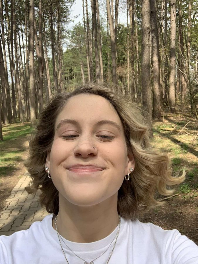 Sydney Quinn took advantage of the beautiful weather to go for a walk at Twin Lakes.