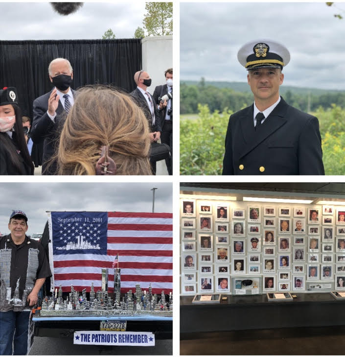 Collage of the photographs taken at the Flight 93 National Memorial
