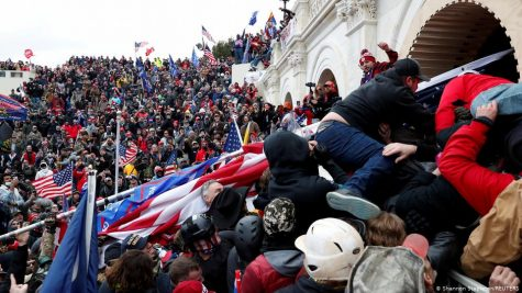 Pro-Trump protesters storm into the US Capitol during clashes with police. REUTERS.