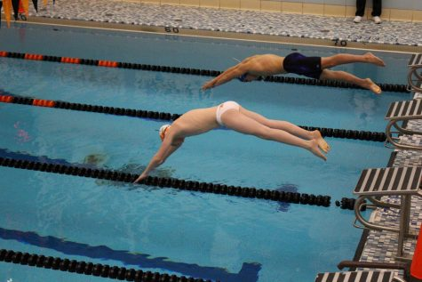 Girls and Boys Varsity Swim Team Beats Armstrong on Senior Night