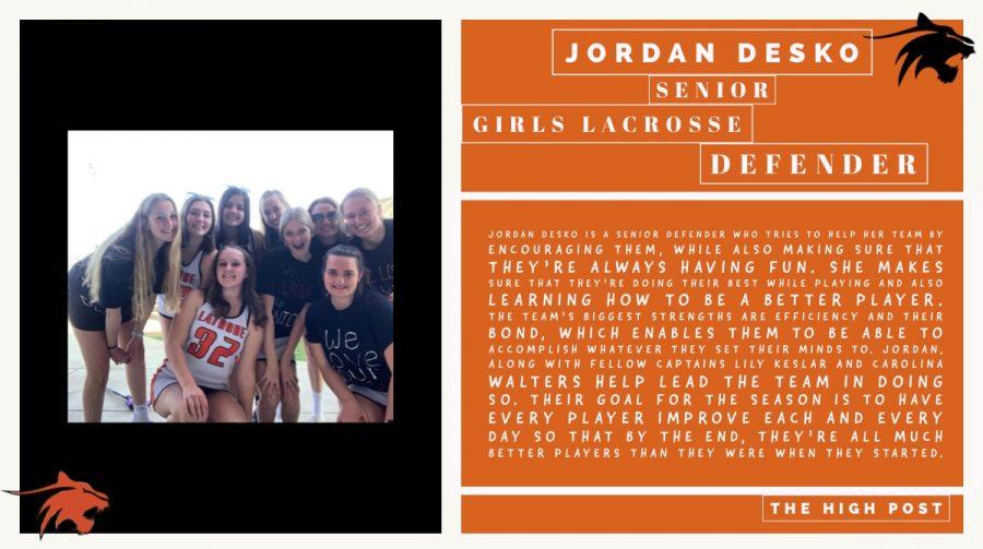 Senior Athlete- Jordan Desko
